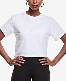 Plus Size Logo-Print Cropped T-Shirt