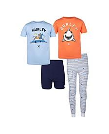 Big Boys 4 Piece Ocean Friends Pajama Set