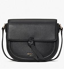 Knott Medium Leather Saddle Bag