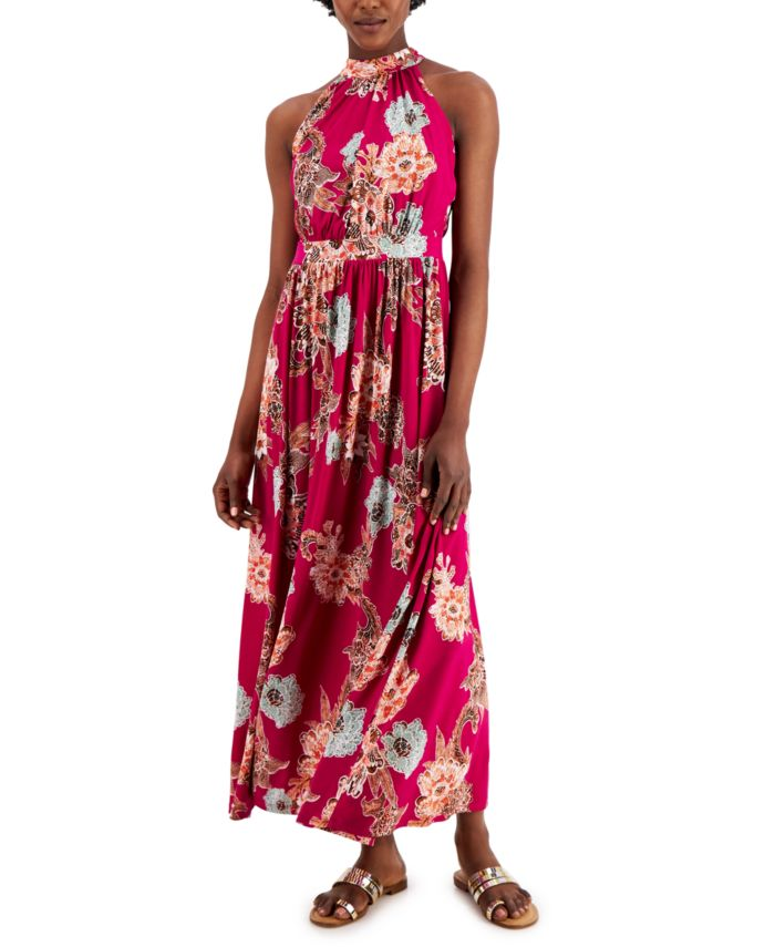 INC International Concepts INC Petite Floral-Print Maxi Dress, Created for Macy's & Reviews - Dresses - Petites - Macy's