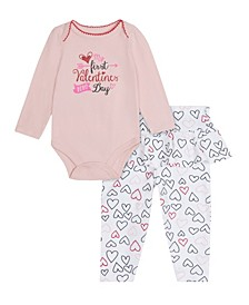 Baby Girls My First Valentines Day Pant, 2 Piece Set