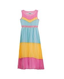 Big Girls Colorblock Chiffon Maxi Dress
