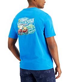 Men's I Drive A Stick Logo Graphic Pocket T-Shirt