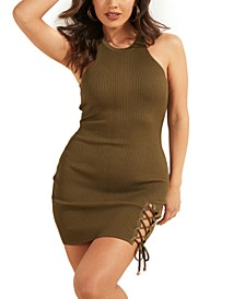Alexa Lace-Up Bodycon Dress