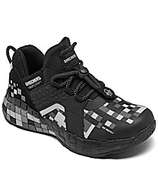 Little Boys Mega-Craft Cubozone Slip-On Casual Sneakers from Finish Line