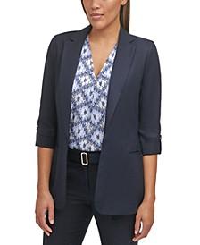 Roll-Tab-Sleeve Jacket