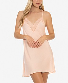 Hammered Satin Chemise Nightgown