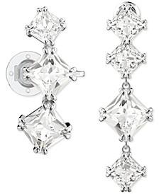 Silver-Tone Crystal Mismatch Earrings