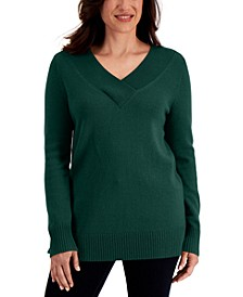 Crossover V-Neck Sweater, Created for Macy's