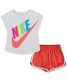 Little Girls 2 Piece Futura T-shirt and Shorts Set