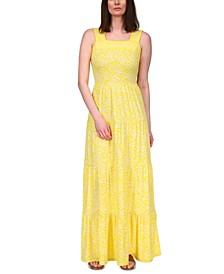 Harrison Floral-Print Tiered Maxi Dress, in Regular & Petites