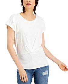 INC Pleated-Front Top, Created for Macy's