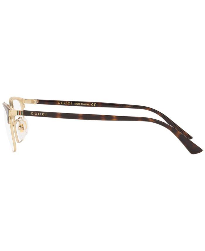 Gucci Gc001196 Men's Rectangle Eyeglasses & Reviews - Home - Macy's
