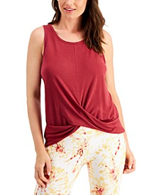 Twist-Front Sleeveless Top, Created for Macy's