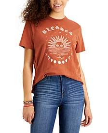 Juniors' Blessed Graphic Cotton T-Shirt