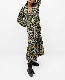 Flowy Flower Printed Dress