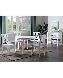 Naples Dining 5-Pc (Drop Leaf Table + 4 Side Chairs)