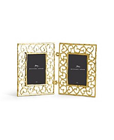 Double Heart Frame Gold 2x3