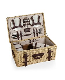 Charleston Luxury Picnic Basket Set, 32 Pieces