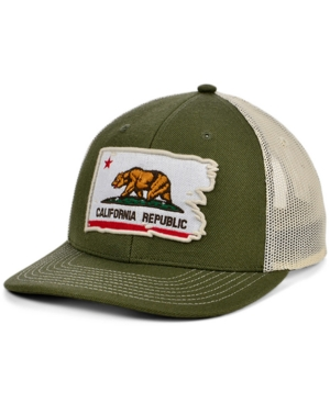 Local Crowns California Torn and Tattered Flag Curved Trucker Cap