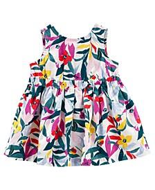 Baby Girls Floral Linen Dress