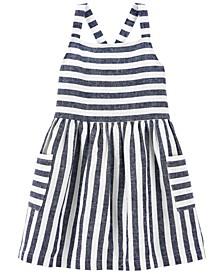 Toddler Girls Striped Linen Dress