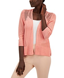 Mixed-Stitch Cardigan Sweater, Created for Macy's