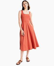 Solid Square-Neck Midi Tank Dress, Created for Macy's