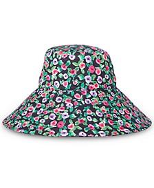 Cotton Canvas Floral Bucket Sun Hat