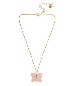 Gummy Butterfly Pendant Necklace
