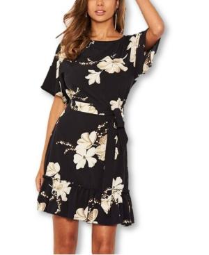 Women's Floral Frill Hem Dress