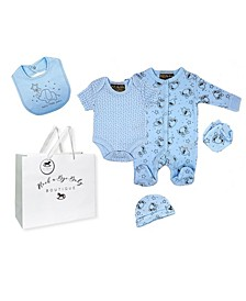 Baby Boys Elephant Layette Gift Set in Mesh Bag, 5 Piece