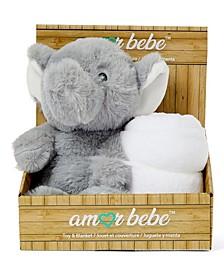 Boys and Girls Plush Elephant with Blanket