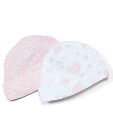 Baby Girls Heather Beanie Hats, Pack of 2
