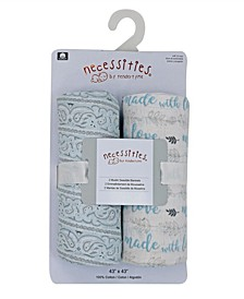 Baby Boys Muslin Swaddle Blankets, Pack of 2