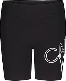Big Girls Performance Tilt Logo Bike Shorts