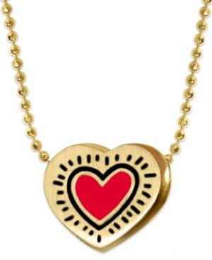 Enamel Heart Pendant Necklace