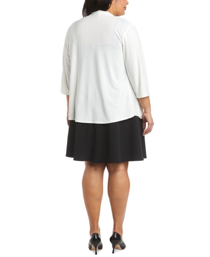R & M Richards Plus Size Swing Cardigan & Reviews - Jackets & Blazers - Women - Macy's