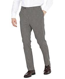 Men's Modern-Fit Performance Stretch Gray Sharkskin Suit Separates Pants