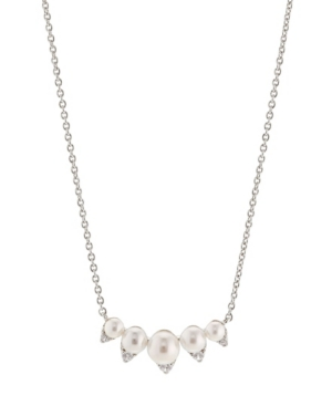 Imitation Pearl Frontal Necklace