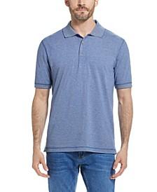 Men's Short Sleeves Micro Stripe Knit Polo Shirt