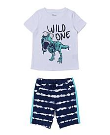 Toddler Boys Graphic T-shirt and Short Set, 2 Piece