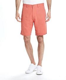 Men's Solid Linen Rayon Flat Front Short