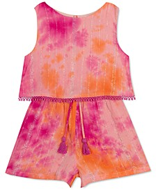 Baby Girls Lurex Tie Dye Popover Romper