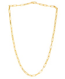 """Paperclip 18"""" Necklace in Fine Gold Plate"""