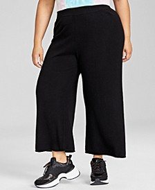 Plus Size Cashmere Pull-On Culottes, Created for Macy's