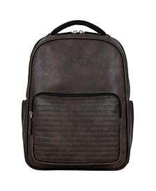 "Vegan Leather 15.6"" Laptop Tablet RFID Backpack"