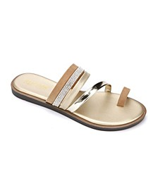 Women's Spring Toe-Loop Jewel Sandal