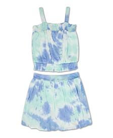 Big Girls Tie Dye Skirt, 2 Piece Set
