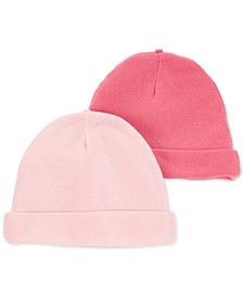 Baby Girls 2-Pack Solid Caps